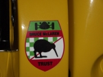 Bruce McLaren Trust sticker on the Lola Can Am car